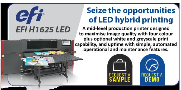EFI H1625 LED Hybrid printer