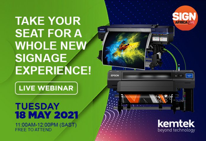 Live Webinar- Kemtek And Epson Invite You To A Whole New Signage Experience